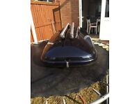 roof box 520L ,karrite odyssey with roof bars good condition£140