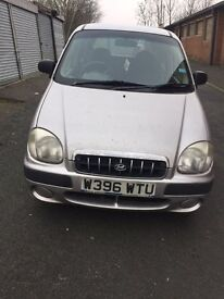 1.0 hyundai amica tax and tested and drives well