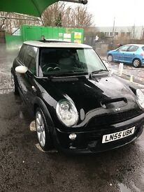 Mini Cooper S 1.6 supercharged, full service history, serviced 100 miles ago, 2005 55 plate