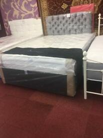 Double divan bed with memory foam mattress!
