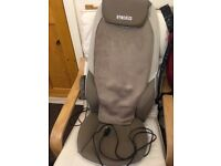 Homemedics back massager for chair, beige colour, hardly used