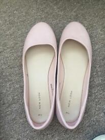 New look baby pink shoes