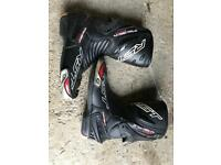 Leather motorbike boots size 9