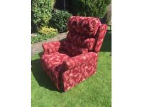 MOBILITY ELECTRIC CHAIR MODEL CHELTENHAM BACK STYLE BUTTON COLOUR WINE