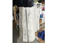 Grey and white driftwood style ceramic tiles