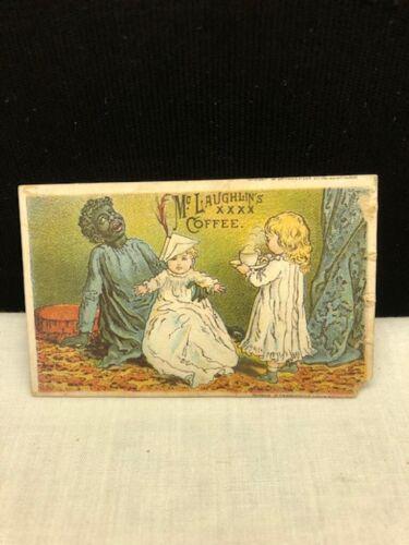 Vintage Victorian Calendar Trade Card McLaughlin Coffee Black Americana 1887