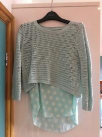 Size 10 two layer turquoise top.