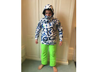 children QUIKSILVER size 14/L pants/anorak/gloves and helmet for £ 125