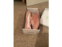 Pink velvet shoes size 7