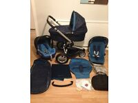 **BARGAIN** QUINNY BUZZ Full Set + Carrycot + Maxi Cosi CAR SEAT + Footmuff + Extras VVGC