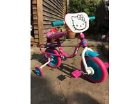 "Hello Kitty 10"" Kids' Bike with Stabilisers - just reduced!"