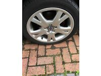 4 Volvo 17 inch Orestes Alloy wheels and Tyres