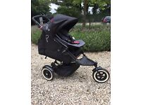 Phil & Ted Dot pushchair and Double kit