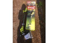 Ryobi cordless lawnmower and grass trimmer