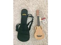 New Traditional soprano ukulele with case