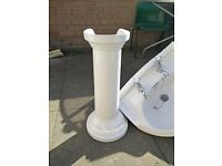 OLD FASHION WASH HAND BASIN WITH PEDESTAL FOR SALE