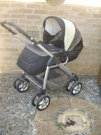 Silver Cross Linear Freeway Pram Pushchair Carrycot