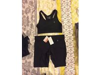 Ladies gym wear workout gear bundle shorts leggings top sports bra size 8 never worn