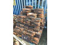 Reclaimed clay peg tiles