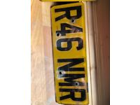R46 NMR number plate on retension