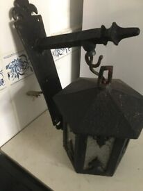 Collection only wall/Door outside lantern black H 6 inches W 8 inches black back plate 13 inches