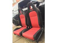 HONDA EP2 EP3 TYPE R FRONT SEATS - PERFECT CONDITION COMPLETE WITH BUCKLES AND CAPS