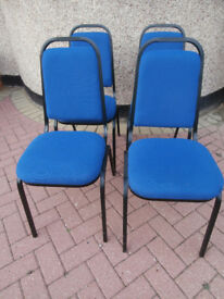 Blue chairs conference / meeting x3(Delivery)