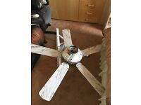 Ceiling Fan with three lights.