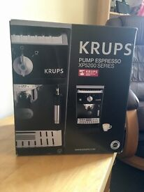 Krups espresso coffee machine 15 bar pressure auto. Coming with cleaning liquid.