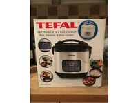 Never-used Tefal 3-in-1 rice, steamer & slow cooker