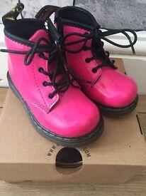 Kids pink dr martens