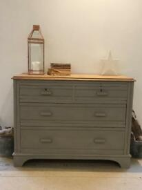 Rustic painted chest of drawers