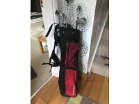 Kids golf bag and clubs