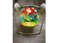 Bright Starts Roaming Safari Portable Baby Swing