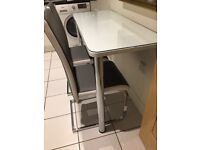 Kitchen Glass top Bar table, and extra 2 Chairs
