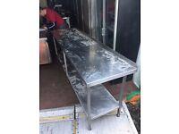 Stainless Steel Double Shelf Prep Unit
