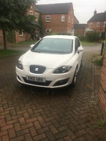 White seat Leon ecomotive 0 tax