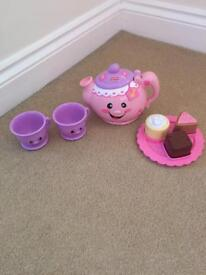 Fisher price teapot and cups
