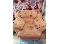 ARMCHAIR PRETTY FLORAL DESIGN GOOD CLEAN CONDITION COLLECT ONLY
