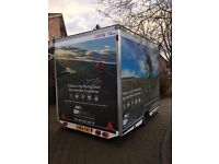 Box Van Trailer 3m x 2.2m x 2.2m Fully Braked Excellent Condition Side Opening