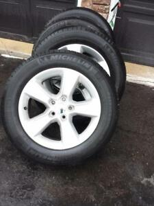 DODGE CHARGER FACTORY OEM 17 INCH  ALLOY WHEELS IN GOOD CONDITION.