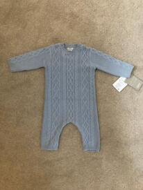 Mamas and Papas brand new with tags knitted romper 3-6 months