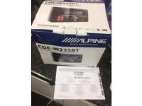 Alpine CD radio iphone parrot hands free Bluetooth music radio VW T5 all vehicles CDE-W235BT