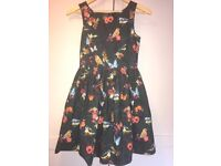Next, age 12 years, floral dress, good condition