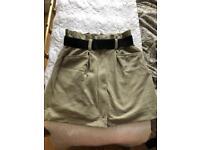 Mango high waist mini skirt