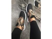 BNIB black and gold trainers sizes 3-8