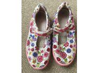 Lelli Kelly canvas pumps shoes size 32 (size 13)