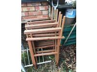 Free 5 garden patio chairs