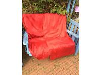 Huge red curtains fabric lined very warm