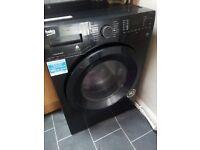 Black washer dryer